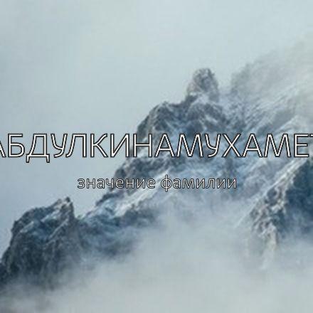Происхождение фамилии Абдулкинамухамет
