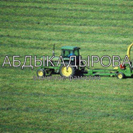Происхождение фамилии Абдыкадырова
