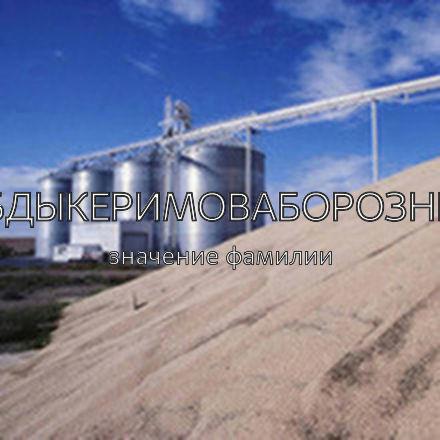 Происхождение фамилии Абдыкеримоваборознец