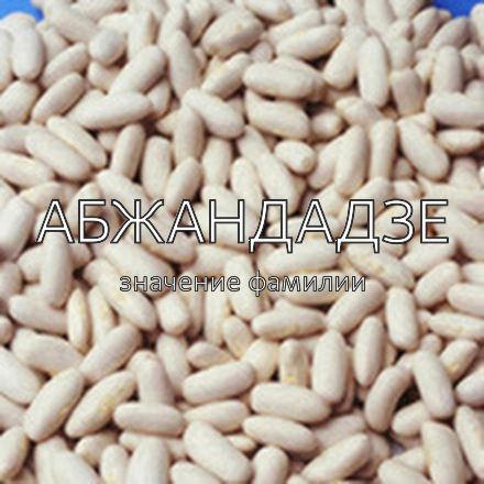 Происхождение фамилии Абжандадзе