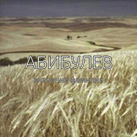 Происхождение фамилии Абибулев