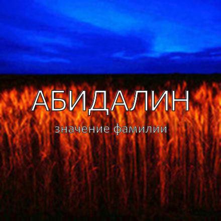 Происхождение фамилии Абидалин