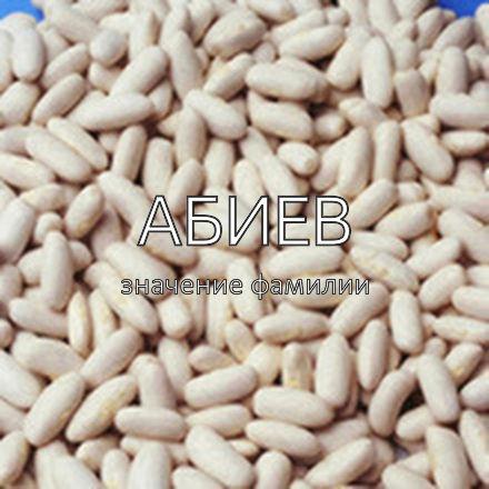 Происхождение фамилии Абиев