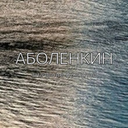 Происхождение фамилии Аболенкин