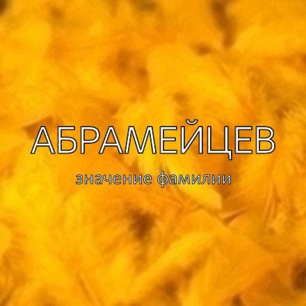 Происхождение фамилии Абрамейцев