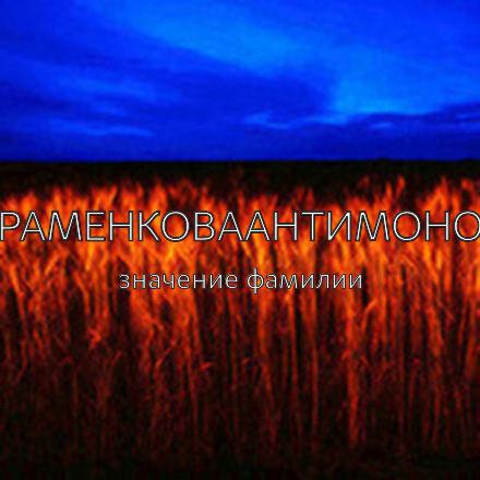 Происхождение фамилии Абраменковаантимонова