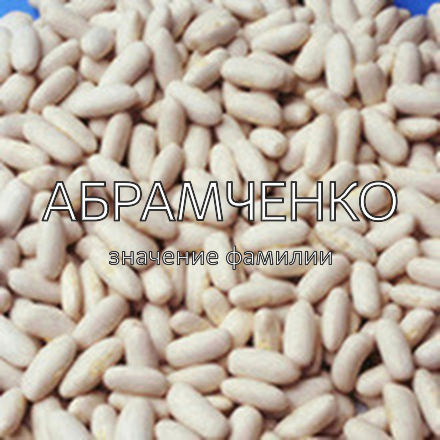 Происхождение фамилии Абрамченко