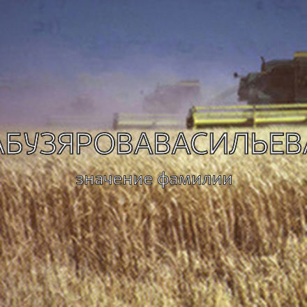 Происхождение фамилии Абузяровавасильева