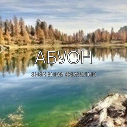 Происхождение фамилии Абуон