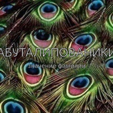 Происхождение фамилии Абуталипованики