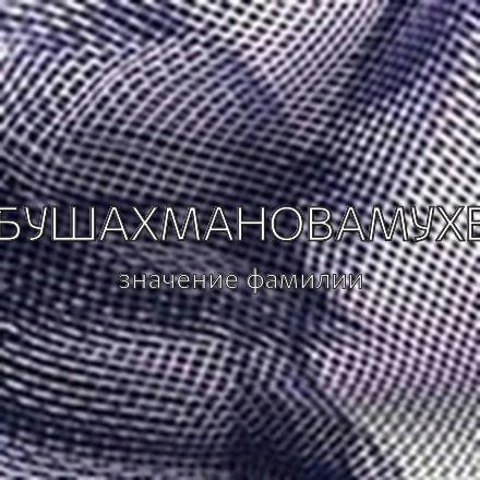 Происхождение фамилии Абушахмановамухет