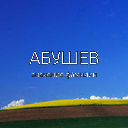 Происхождение фамилии Абушев