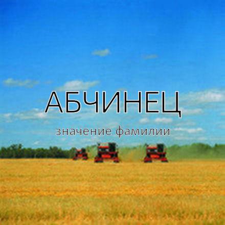 Происхождение фамилии Абчинец