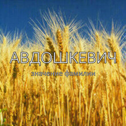 Происхождение фамилии Авдошкевич