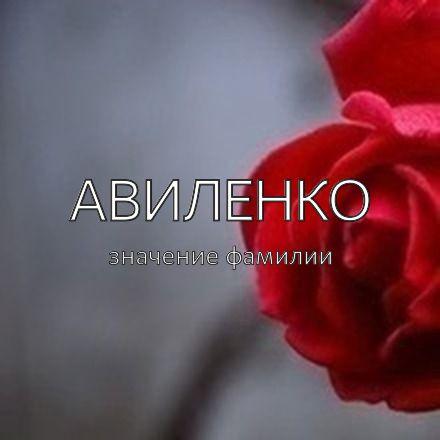 Происхождение фамилии Авиленко