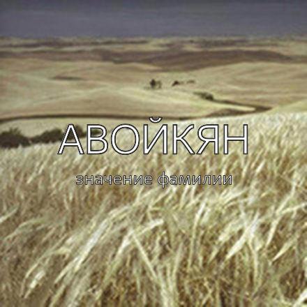 Происхождение фамилии Авойкян