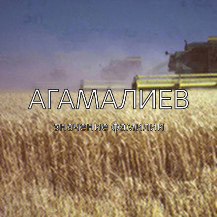 Происхождение фамилии Агамалиев