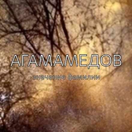 Происхождение фамилии Агамамедов