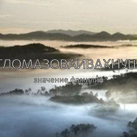 Происхождение фамилии Агломазоваивахнушк