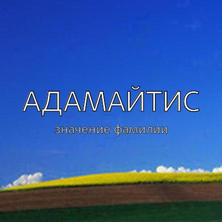 Происхождение фамилии Адамайтис
