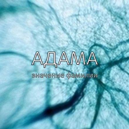 Происхождение фамилии Адама
