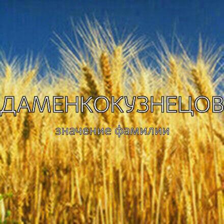 Происхождение фамилии Адаменкокузнецова
