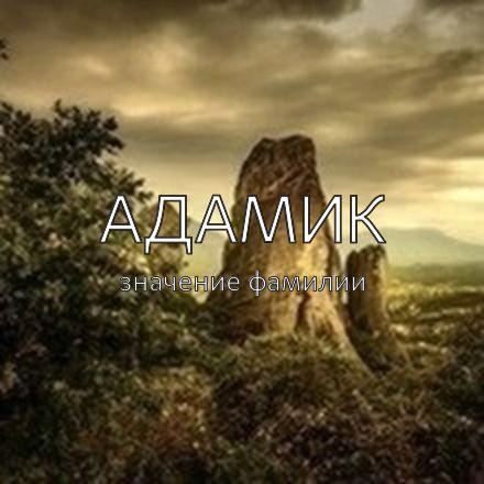 Происхождение фамилии Адамик