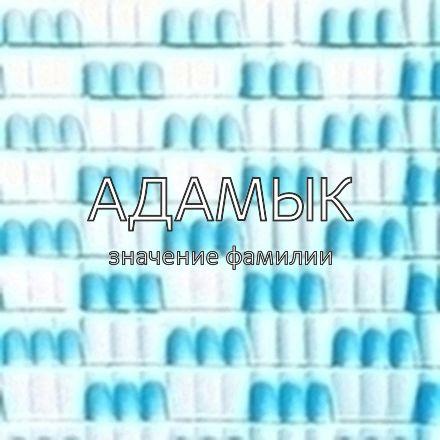 Происхождение фамилии Адамык