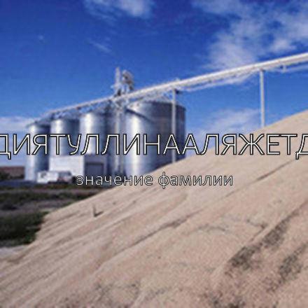 Происхождение фамилии Адиятуллинааляжетди