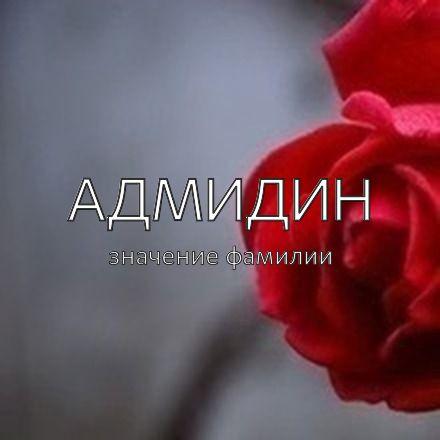 Происхождение фамилии Адмидин