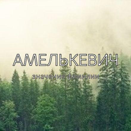 Происхождение фамилии Амелькевич