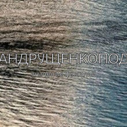 Происхождение фамилии Андрущенкопод