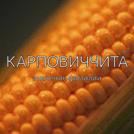 Происхождение фамилии Карповиччита