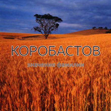 Происхождение фамилии Коробастов