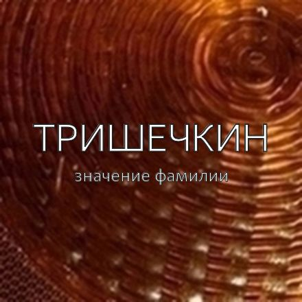 Происхождение фамилии Тришечкин