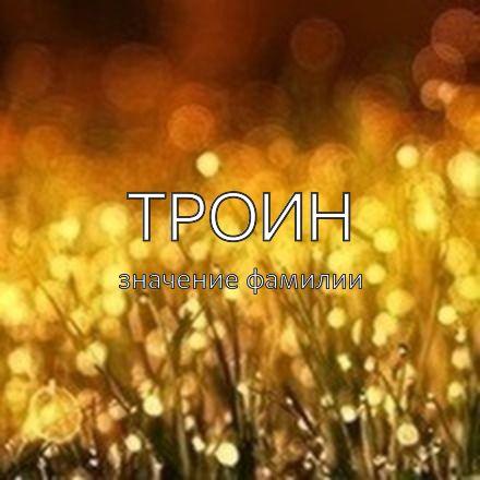 Происхождение фамилии Троин