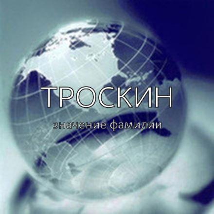 Происхождение фамилии Троскин