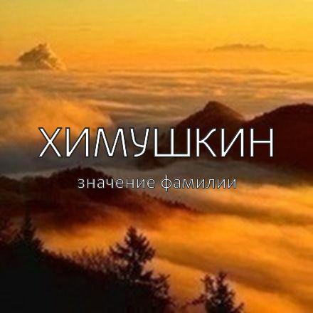 Происхождение фамилии Химушкин